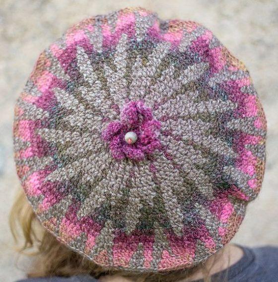 modflowers: fall flower beret by TijaCrochet on Etsy