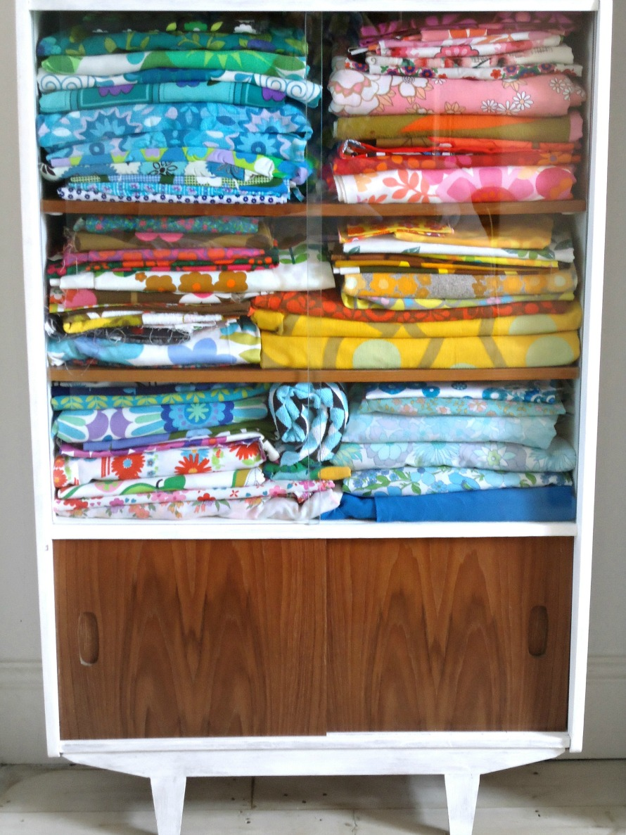 just one of modflowers' fabric collection cabinets!