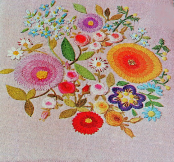 modflowers: vintage crewel embroidery