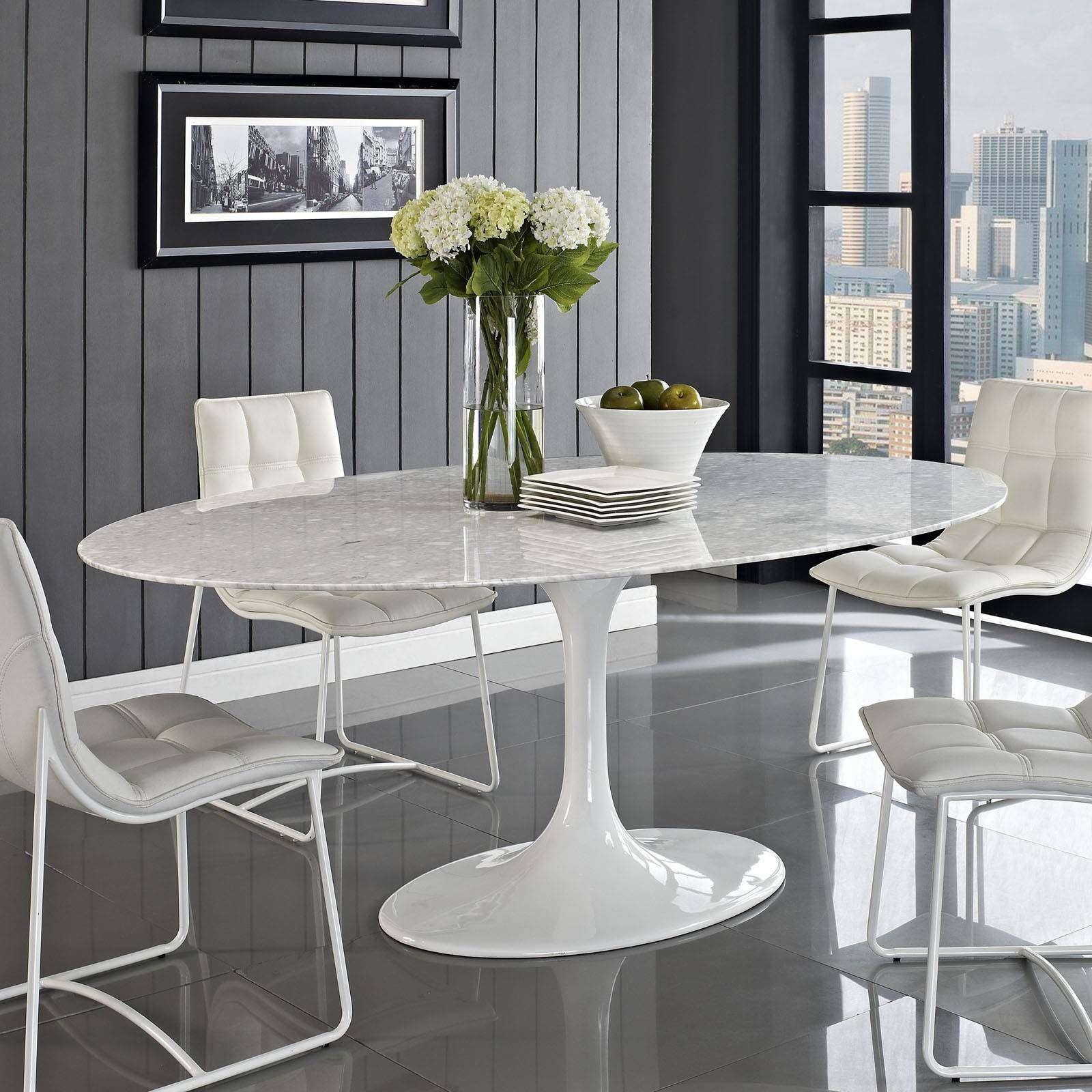 Eero Saarinen Style Tulip Table Marble 78 marble top kitchen table