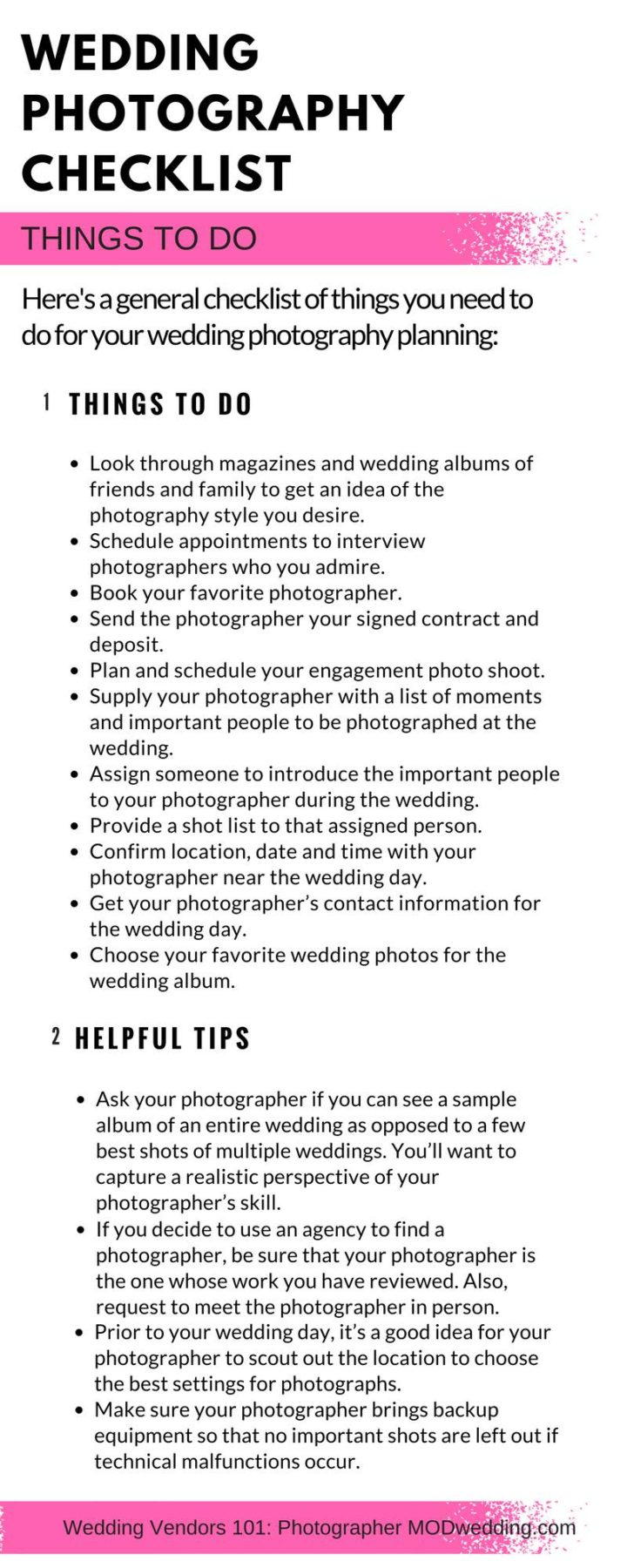 Fullsize Of Wedding Photography Checklist