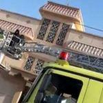 إصابة 12 شخصا جراء اندلاع حريق بمنزل في الاحساء