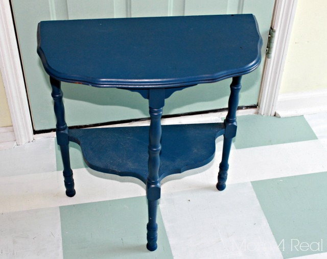 Paint a Chevron Side Table Before