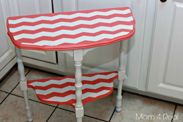 Paint a Chevron Side Table Step 4