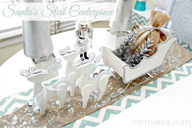 Santa Sled Centerpiece for Tatertots and Jello