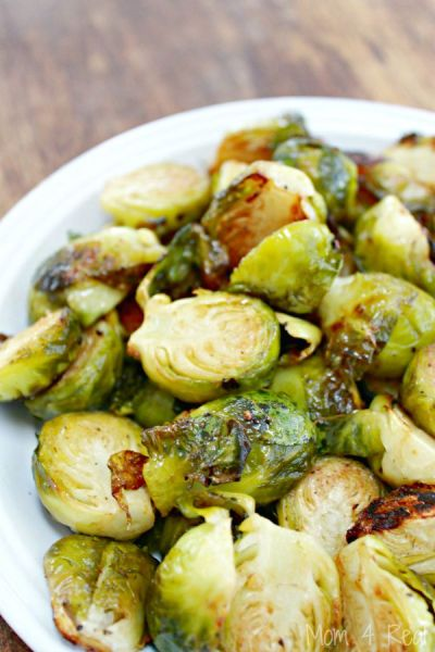 Oven Roasted Brussel Sprouts - Mom 4 Real