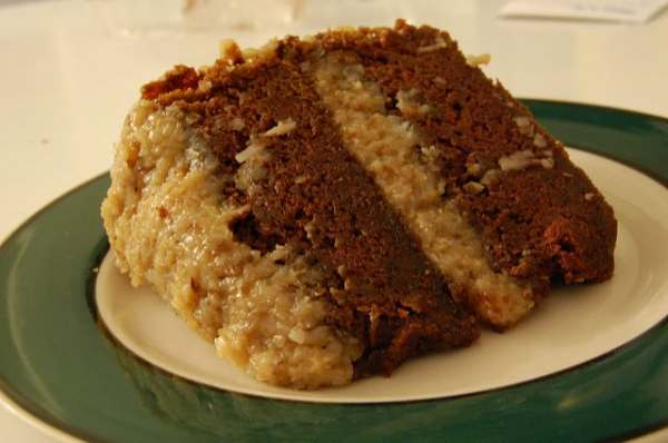 Vegan German Chocolate Cake Recipe (Courtesy of Alice's Tea Cup)