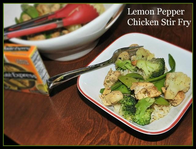 Lemon Pepper Chicken Stir Fry for A #WeekDaySupper #SauteExpress
