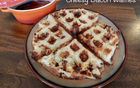 Cheesy Potato Waffles FB