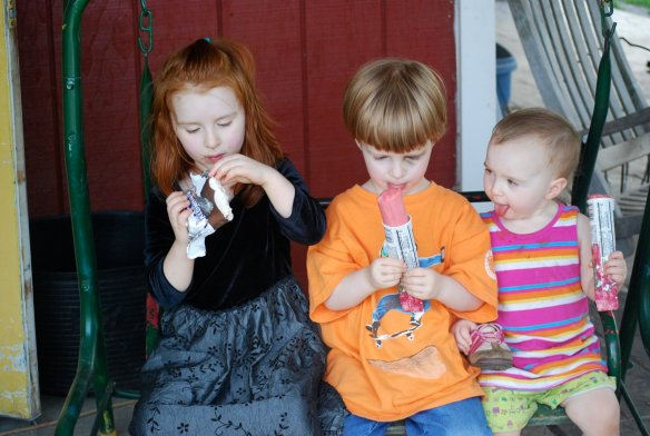 Our trips to the pumpkin patch in VA might include ice cream. (I love this picture.)