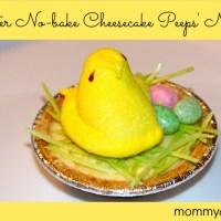 Easter No-Bake Cheesecake Peeps Nest
