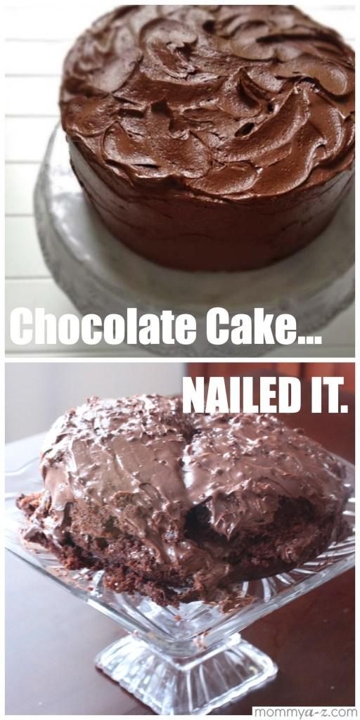 chocolate cake, nailed it, pinterest meme