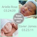 Celebrating together: Happy Birthday, A&Z!