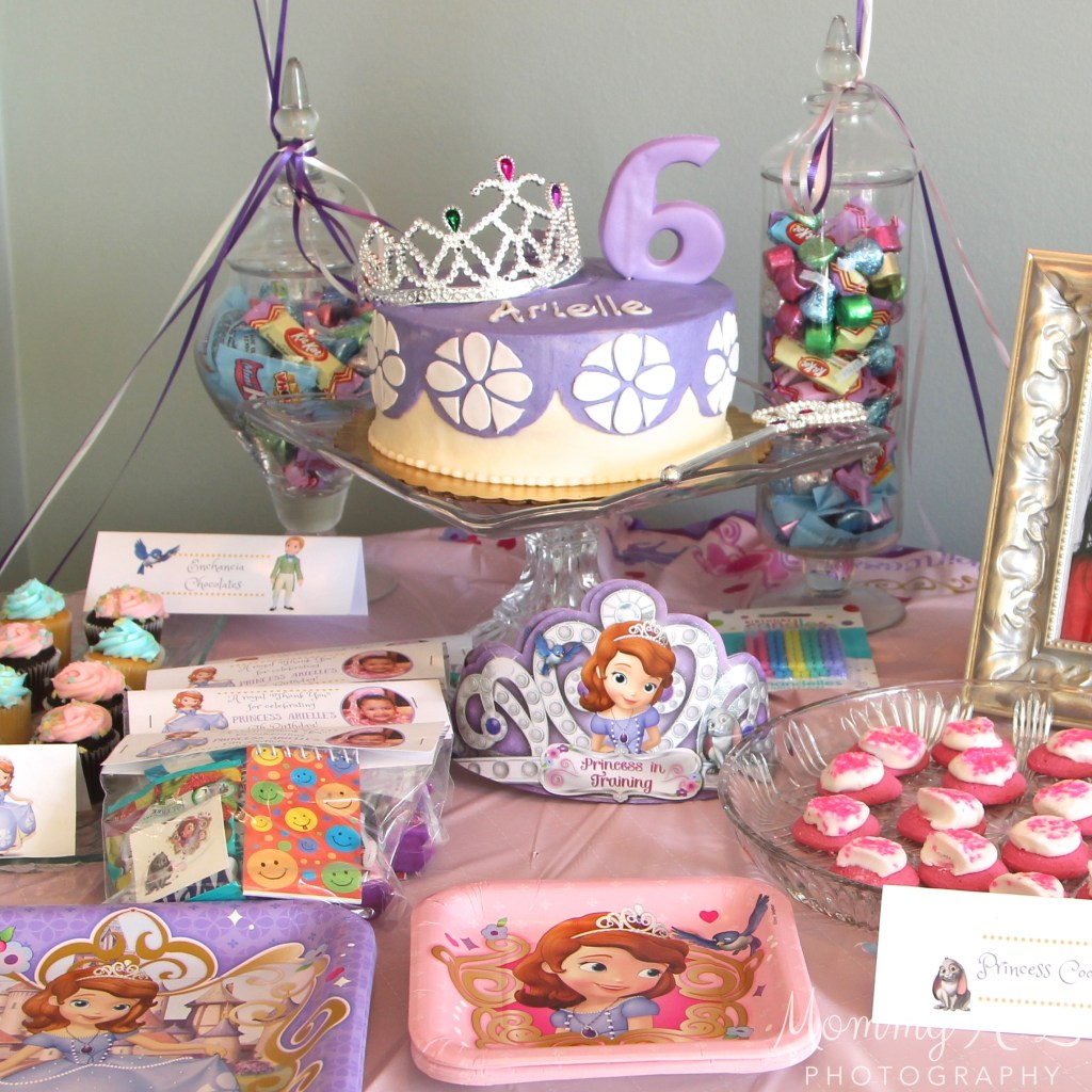 Sofia the First Birthday Sweet Table