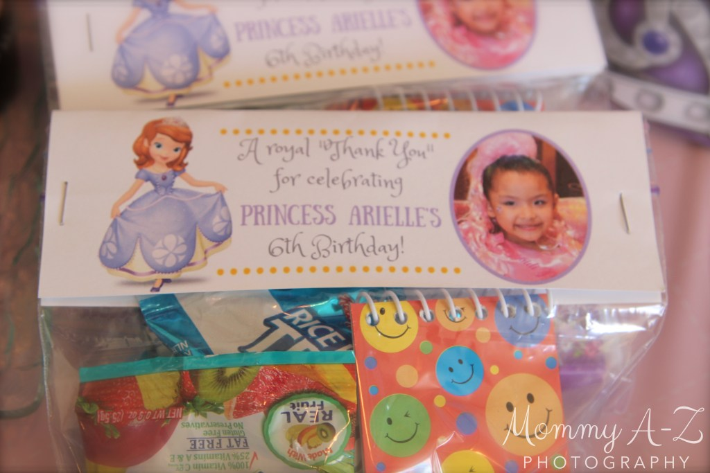 Sofia the First Birthday Bag Topper