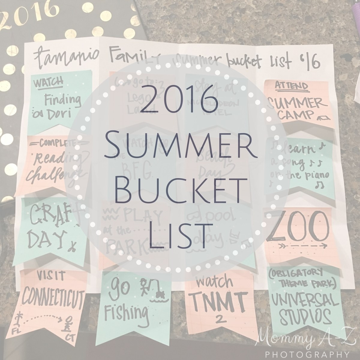 Summer Bucket List 2016