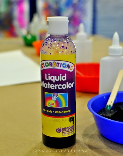 how to make liquid watercolor with food coloring