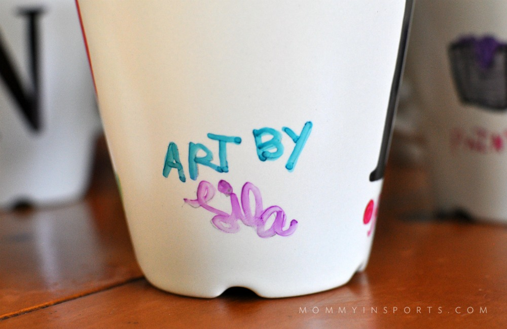 DIY Sharpie Mugs Art by Li;a