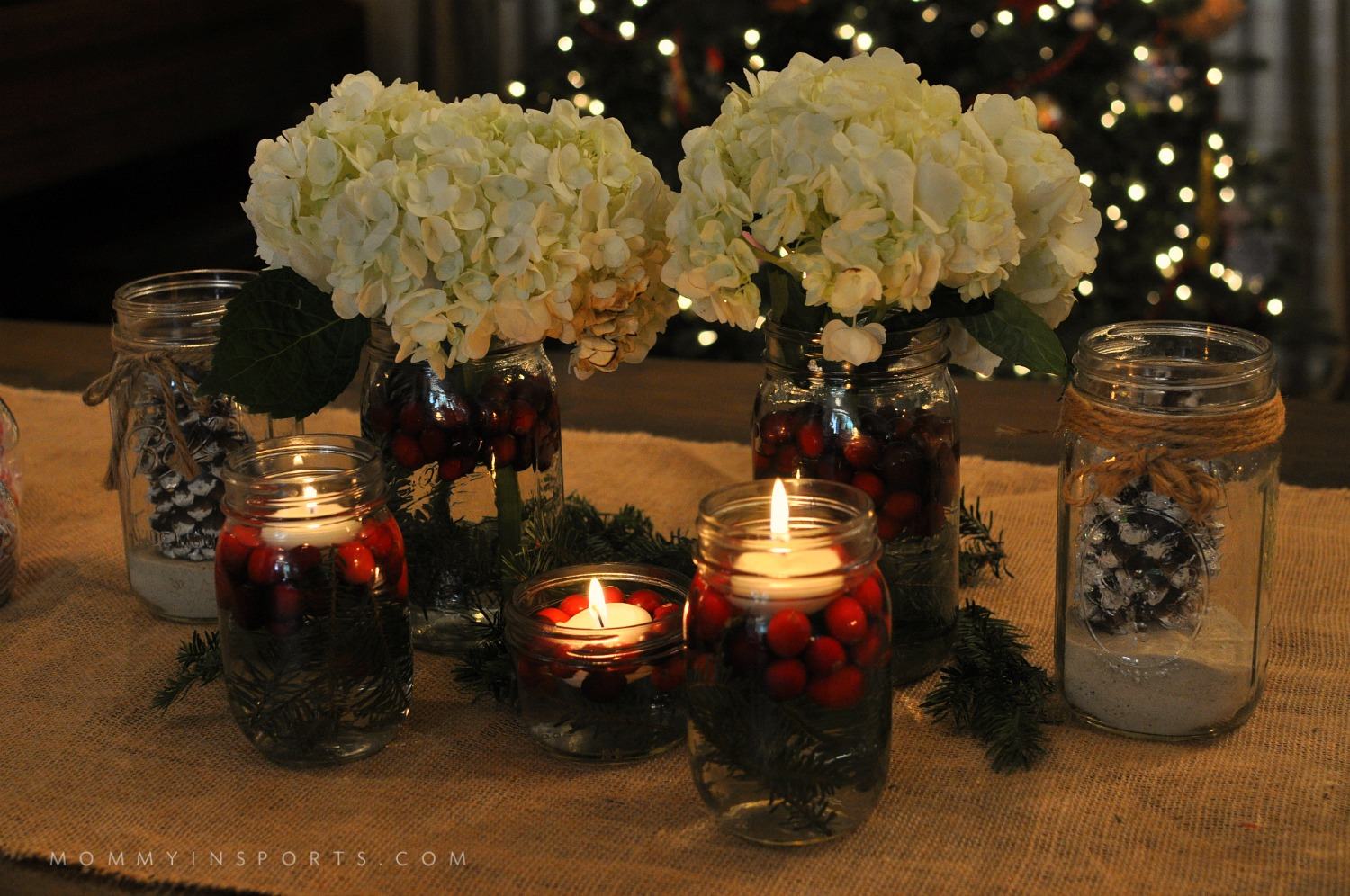 Simple diy holiday centerpieces mommy in sports