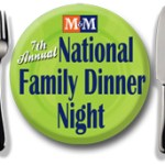 m&m national family dinner night logo