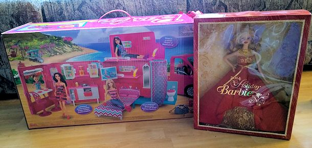 mattel barbie holiday toys