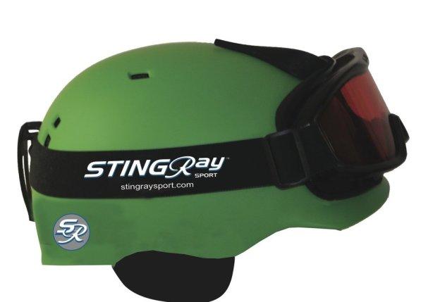 stingray on helmet