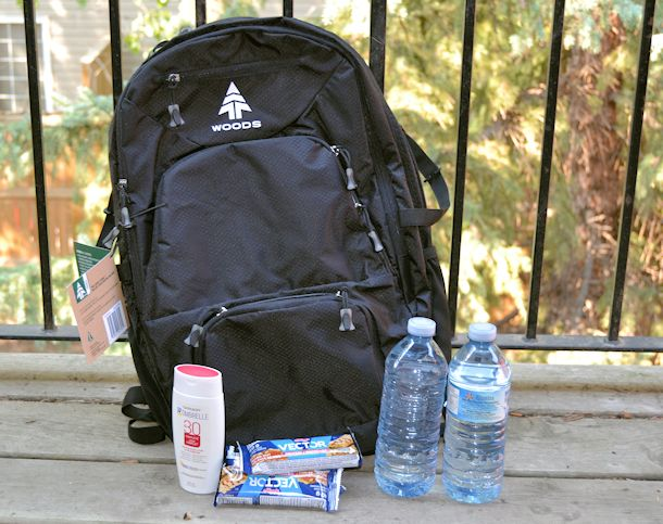 woods hybrid backpack and supplies