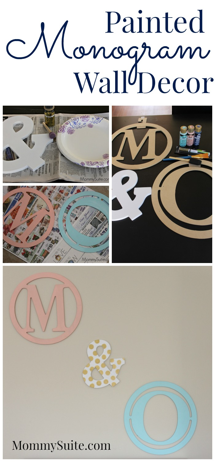 Painted monogram wall decor mommy suite for Monogram decor