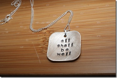all shall be well necklace