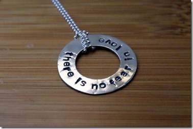 no fear in love necklace