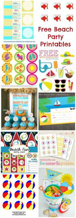 Mind Free Beach Party Printables Beach Party Ideas Moms Munchkins Beach Party Ideas 10 Year Beach Party Ideas Teenager