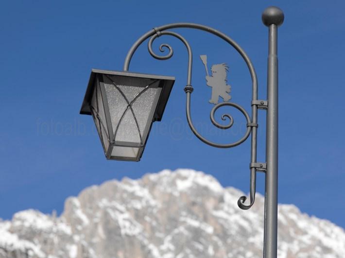 Street lamp, Sappada, Veneto, Italia, Italy, Europe