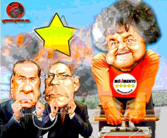 Berlusconi-Letta-Grillo-Movimento-5-Stelle-Pdl-Pd