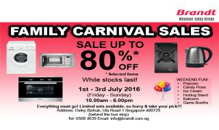 Brandt Family Carnival Sale
