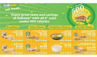 Subway Coupons Featured