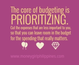 Money Girl Philippines - Budgeting Quote