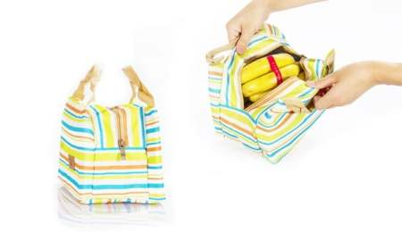 Striped Thermal Bag for just £3.98