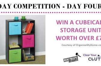 Competition : Win a 6 cube storage unit with fabric...