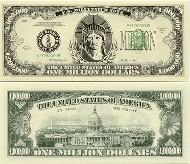 1 million dollar bill