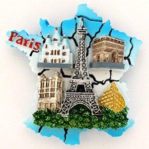 magnet aimant de frigo cuisine souvenir de France Paris cadeaux Monuments 7 x 7 cm MG36-B