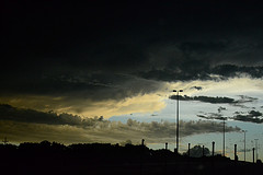 dark clouds thunder photo