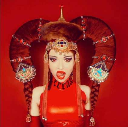 Mongolian Headdress - Karina Akopyan, Photographer: Shelly d'Inferno