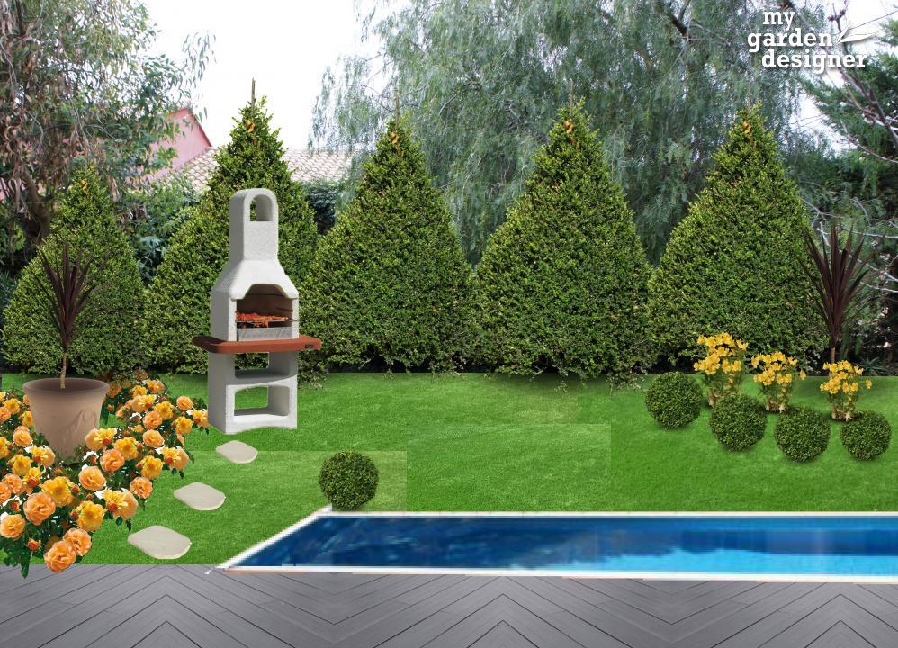 Am nager une piscine et un barbecue la fran aise - Jardin a la francaise caracteristique ...