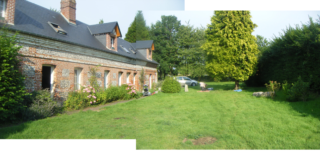 Am nagement paysager du jour une long re normande et sa for Amenagement exterieur longere