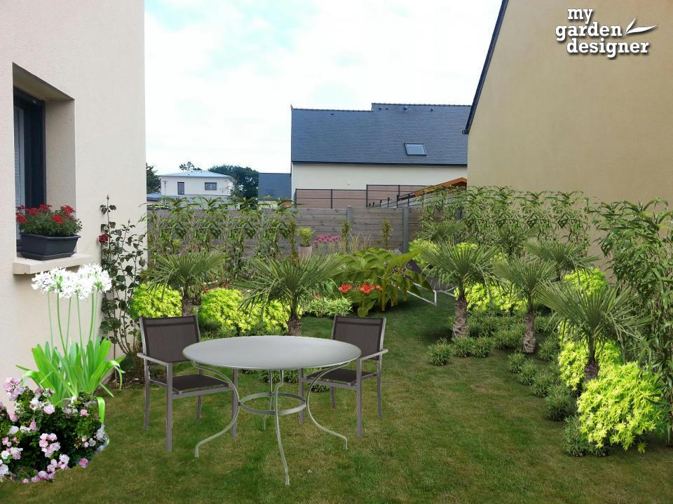 am nager un jardin tout en longueur monjardin. Black Bedroom Furniture Sets. Home Design Ideas