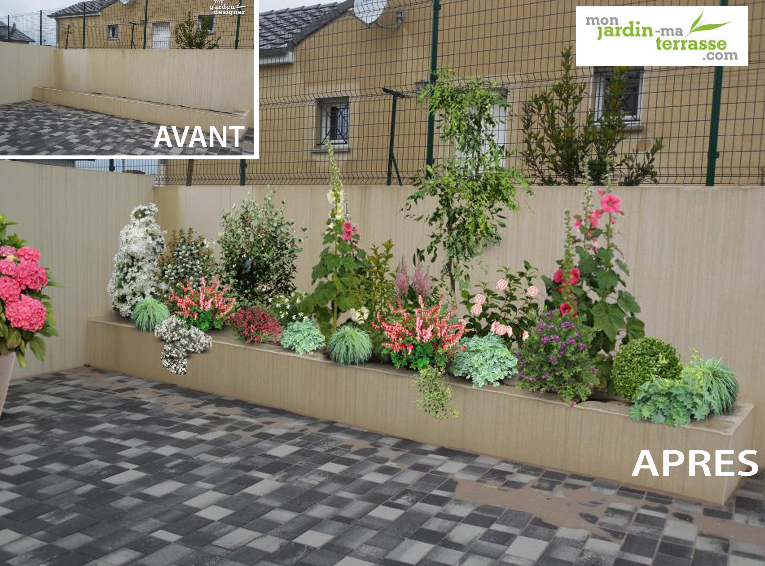 Amenagement jardiniere terrasse monjardin for Terrasse amenagement plantes