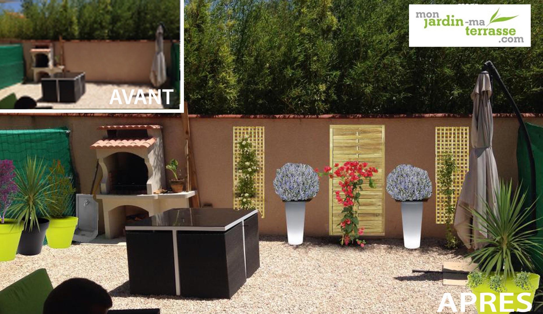 Amenagement barbecue terrasse fashion designs - Coin barbecue jardin ...
