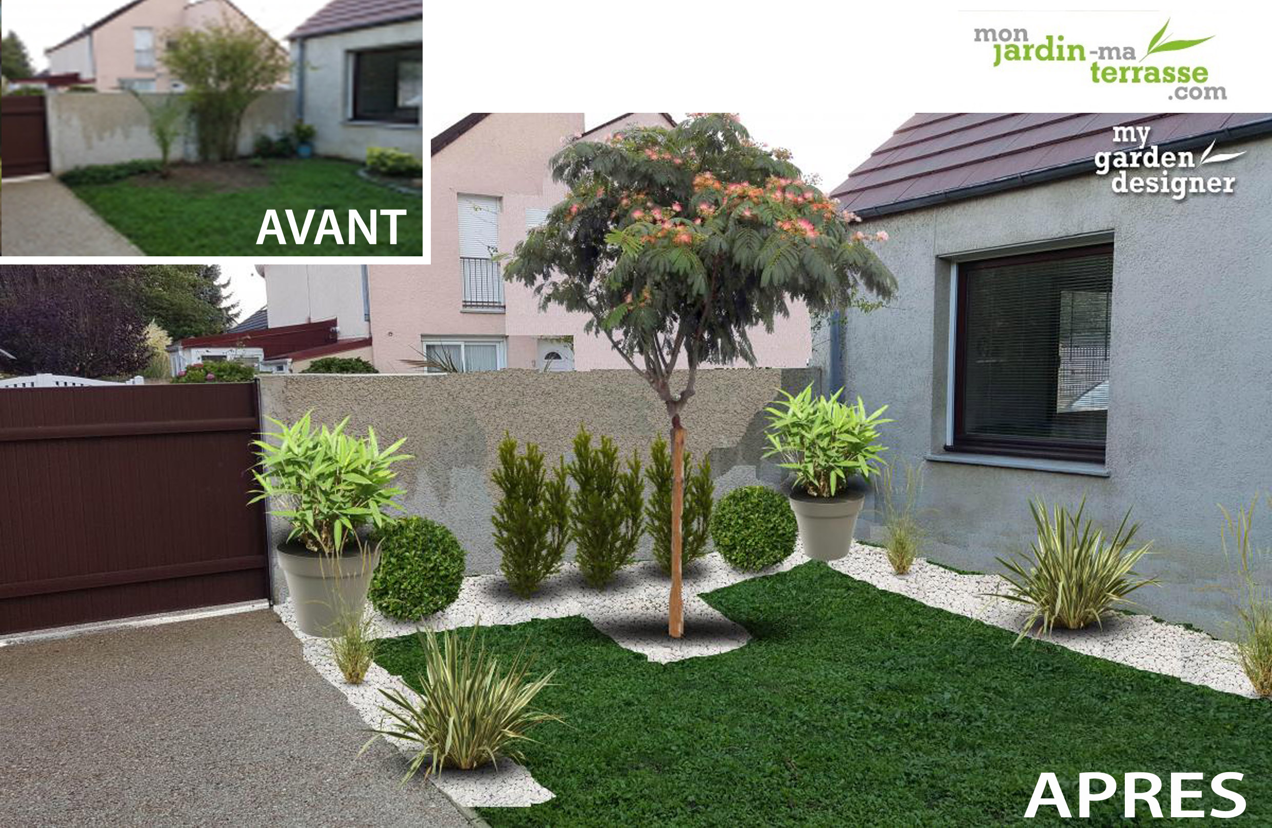 Charmant amenagement de petit jardin 11 am nager petit for Amenagement exterieur jardin avant apres