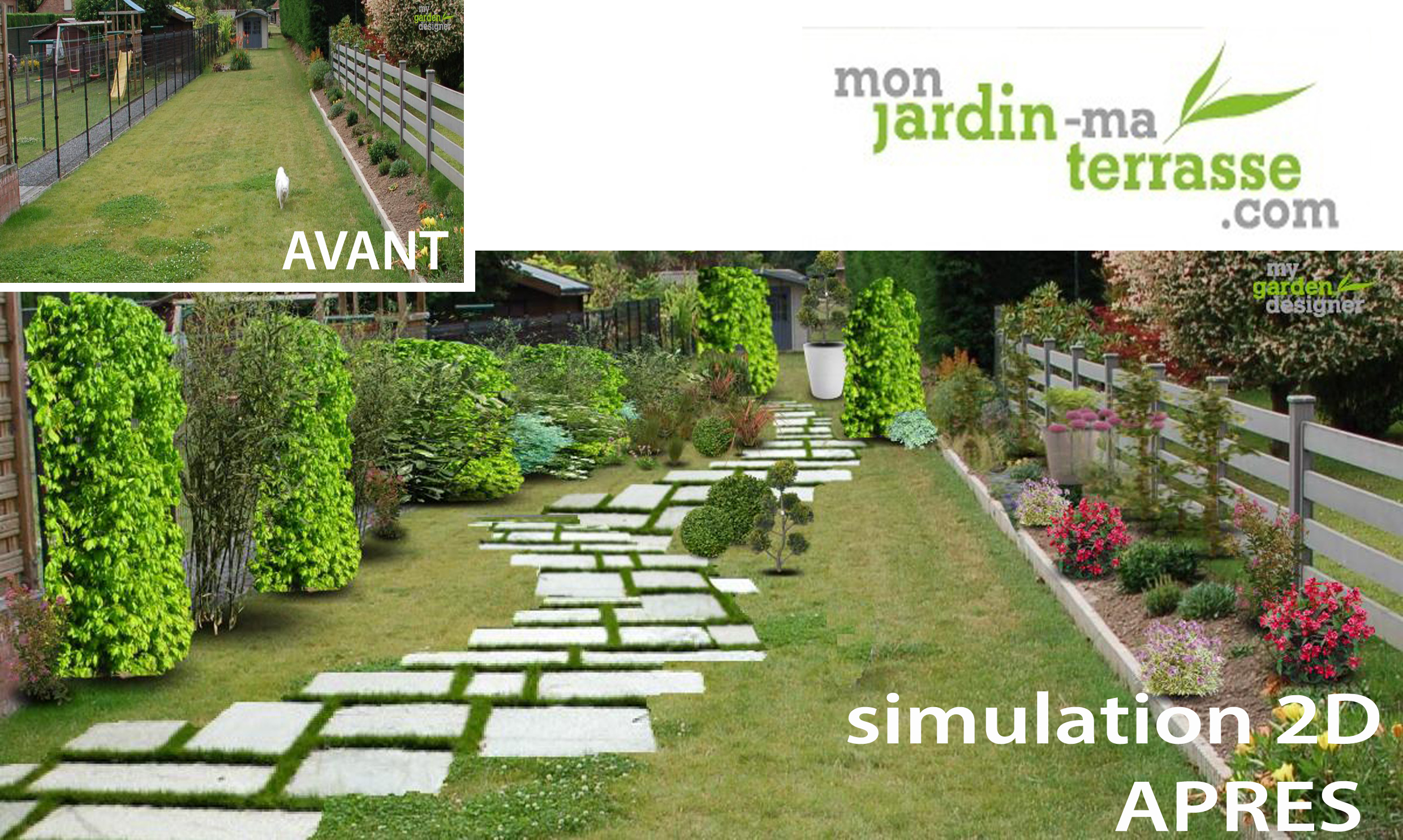 Comment am nager son jardin en longueur monjardin for Amenager sa terrasse de jardin