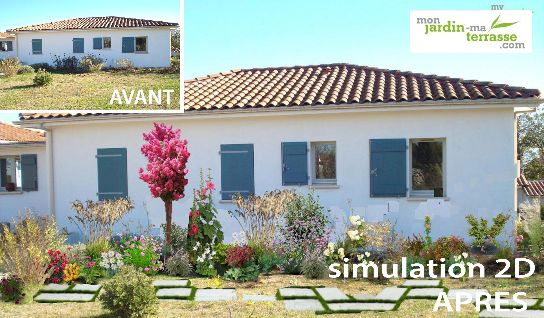 Aménagement paysager devant une maison | monjardin-materrasse.com